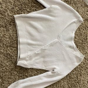 Hollister white lace detail sweater!